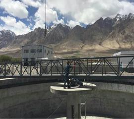 新疆塔什库尔干县污水处理厂现场